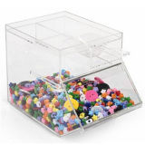 4 Gallon Acrylic Candy Bin W/ Scoop Holder, Magnetic Lid