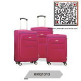 Cheap 600d Polyester Inside Trolley 4wheels Travelling Luggage (KRQ1313)