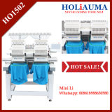 on Sale! Holiauma Factory Embroidery Machine 2 Head with 15 Needles Cap/T-Shirt Embroidery
