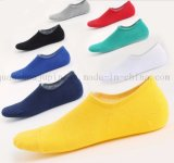 OEM Wholesale Pure Colour Cotton Silicone Antiskid Invisible Boat Socks