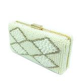 Luxury Jewelry Pearl Diamond Bead Evening Bag Clutch Bag for Lady