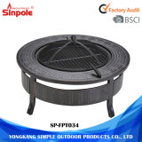 Round 2-in-1 Multi-Purpose Outdoor Camping/Patio Fire Pit BBQ Table
