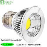6W AC85-265V Dimmable LED Spot Light