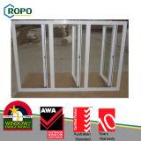 European Standard UPVC Window 3 Panels Design and Double Glass