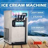 Commercial Frozen Yogurt Machine Soft Ice Cream Machine with 3 Flavor