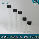 Clear Cosmetic Glass Perfume Vial Essential Oil Tube Bottle