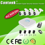 4 Channel H. 264 PLC NVR & Ov IP Camera Kits