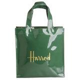 Waterproof PVC Zipper Pocket PU Shopping Handbag (H012)
