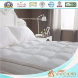 Hotel White Synthetic Polyester Microfibre Mattress Pad