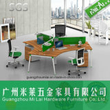 Whole Sale Price 120 Degree Cross Office Workstation Table with Partition Panel