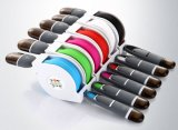 USB Charger Cable for Android iPhone, Retractable 2 in 1 USB Charging Cable