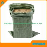 Green Recycled PP Woven Sand Bags, Fertilier Bags, Seed Bags, Garbage Bag