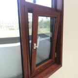 Wood Color Finishing Thermal Break Aluminum Casement Window Tilt Turn Window
