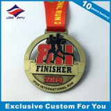 Marathon Running Medal Bronze Running Finisher Medal Awards with Color Enamel