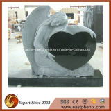 European Griante/Marble Stone Black Angel Monument/Tombstone/ Gravestone/ Headsone with Custom Design
