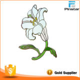Lily Flower Customized Hot Sale Metal Lapel Pin