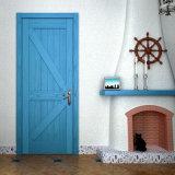 Oppein Mediterranean Style Ash Blue Wood Veneer Door (MSJD39)