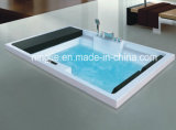 Hot Modern Style Luxury Square Acrylic Whirlpool Massage Bathtub (Nj-3055)