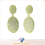 2015 Big Promotion Big Star Silver Round Earring Trendy Statement Gold & Silver Earrings Women Jewelry (E6420)