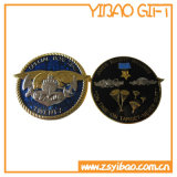 Custom 3D Gold Challenge Coin with Wheel Border (YB-LY-C-01)