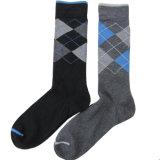 Men′s Cotton Check Business Dress Socks (MA040)