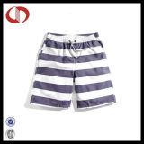 Custom Made Latest Striped Men′s Swim Shorts with Pocket