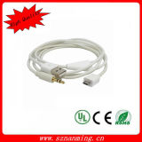 White USB Charger Power & Car Aux out Cable for Galaxy S4 I9500 Note2