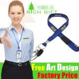 Compatitive Price Mutil-Color Custom Ribbon Lanyard Necklace Keychain