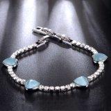 Christmas Gift Heart Shaped Design White Gold Crystal Hand Bracelet
