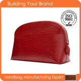2015 New Arrival Fashion Genuine Leather Lady Cosmetic Bag