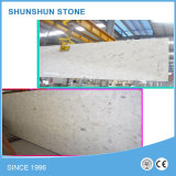 Sparkled White Artificial Quartz Engineered Stone for Countertop/Vanity