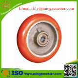 European Type Round Tread Polyurethane Cast Iron Caster Wheel