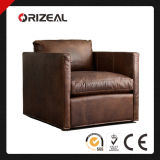 Orizeal Vintage Genuine Leather Chair with Shelter Arm (OZ-LS-2010)