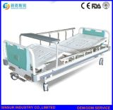 ISO/CE Hospital Furniture Manual Double Crank Central-Controlled Casters Hospital Bed