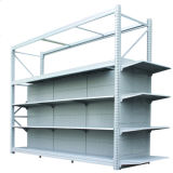 Heavy Muli-Funcation Black Supermarket Gondola Shelving Units