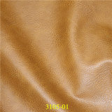 High Abrasion-Resistant Classic Lichee Pattern Artificial PU Leather for Furniture