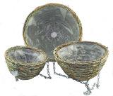 Brushwood and Palm Leaf Rope Star Cone Hanging Basket