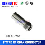 Waterproof F Connector Male Type Twist on Cable Rg58/Rg59/RG6