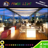 LED Furniture Colorful Garden Illuminated Cube Chair