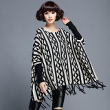 Women Fashion Cotton Nylon Knitted Winter Fringe Pullover (YKY2054)
