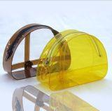 Colorful Semi-Round Cute Hand-Held PVC Bag
