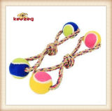 Dog Rope Toys with Two Tennis Balls/Pet Toy (KBR025)