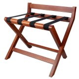 Heavy-Duty Design Wooden Luggage Rack with Backrest