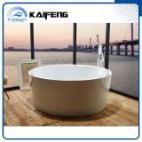 Luxury Two Person Freestanding Round Bathtub with Seat (KF-759)