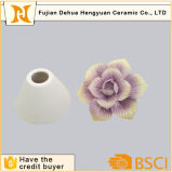 Custom Ceramic Perfume Bottle with Flower Cap