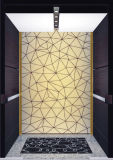 Gearless Tra⪞ Tion Passenger Elevator with Hairline Stainless Steel Ceiling