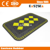 Black & Yellow Portable Rubber Road Safety Speed Cushion