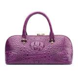 Women Genuine Leather Designer Handbag Crocodile Tote Bag