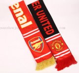 OEM New Product Acrylic Knitted Jacquard Soccer Football Scarf