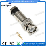 Compression CCTV Male BNC Connector for Coax Cable (CT5081/RG59)
